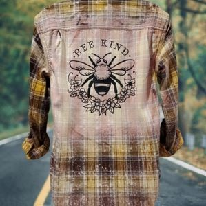 Yellow Bee Bleached Flannel Bee Kind Cotton Small